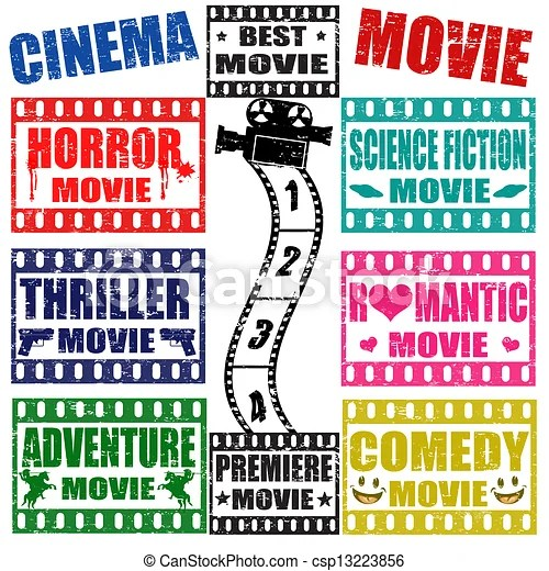 clipart vector of movie genres