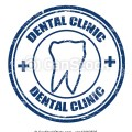 Eps vectors of dental clinic stamp grunge rubber stamps with the