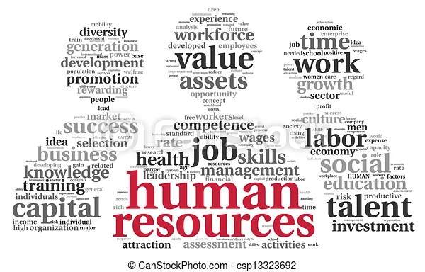 stock illustration of hr - human