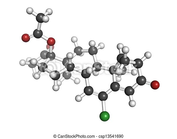 Stock Illustration of Cyproterone acetate (CPA) oral