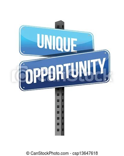 Vector Clip Art of unique opportunity sign illustration design over a white... csp13647618 - Search Clipart, Illustration, Drawings, and EPS ...