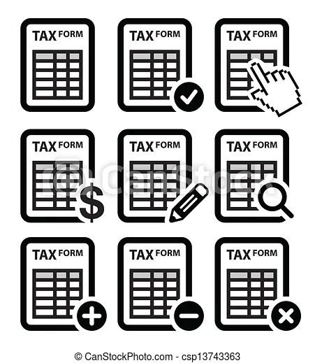 Clip Art Vector of Tax form, taxation, finance vector