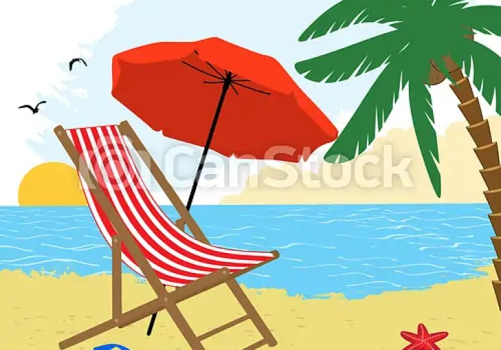 Beach Umbrella And Chair Drawing