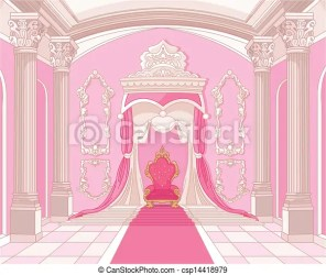 castle throne room magic interior clipart clip vector drawing illustration