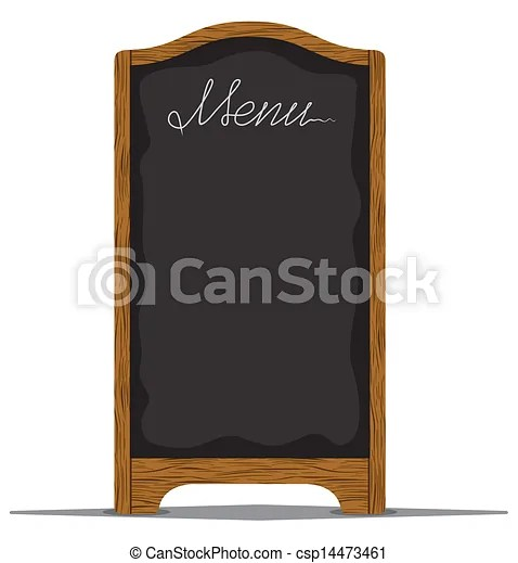 Clip Art Vector of Menu board outside a restaurant or cafe