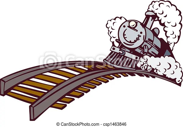 Stock Illustration of Cartoon styled vintage train