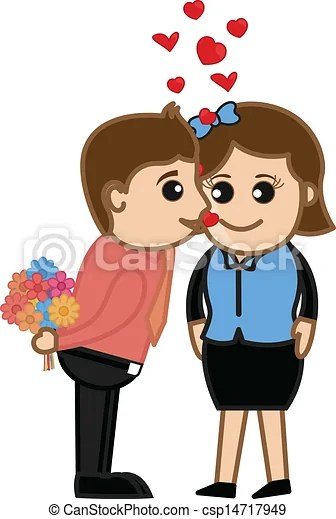 eps vector of love meeting romantic