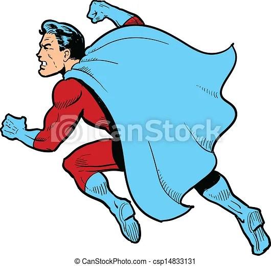 Vectors Of Fighting Superhero Classic Superhero With