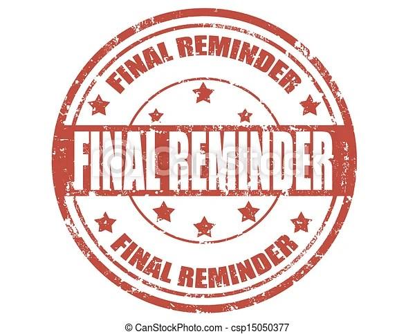 vectors illustration of final reminder-stamp