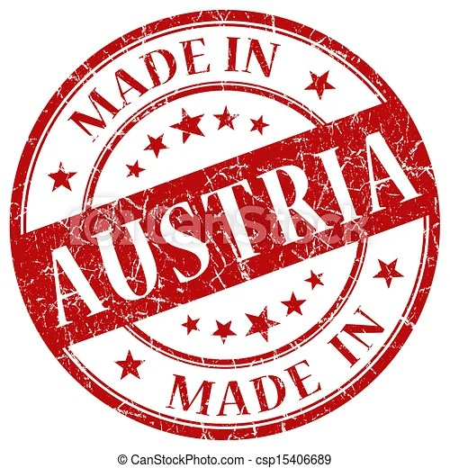 Stock Illustration of Made In Austria red stamp