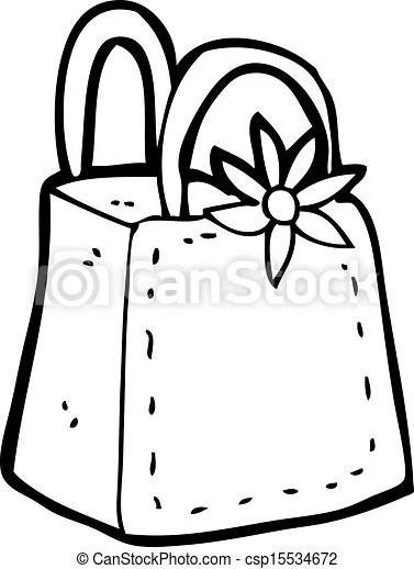 Vectors Illustration of cartoon gift bag csp15534672
