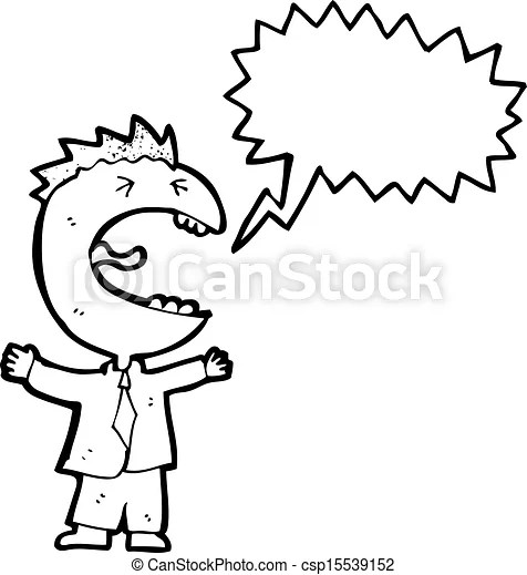 Clipart Vector of screaming boss cartoon csp15539152