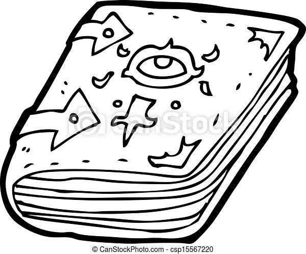 Vector Illustration of cartoon magic spell book