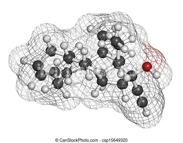 Clip Art of Desogestrel birth control pill drug, chemical