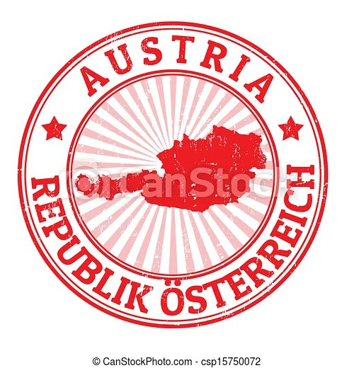 Vectors Illustration of Austria stamp Grunge rubber