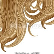 vector illustration of hair style