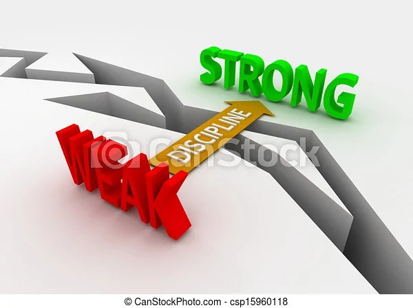 clipart of discipline bridge weak