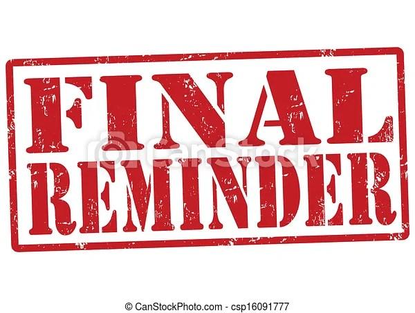 vectors illustration of final reminder
