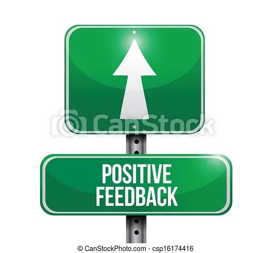 Positive Feedback Road Sign Illustration Design Vector Illustration - Instant Download - csp16174416