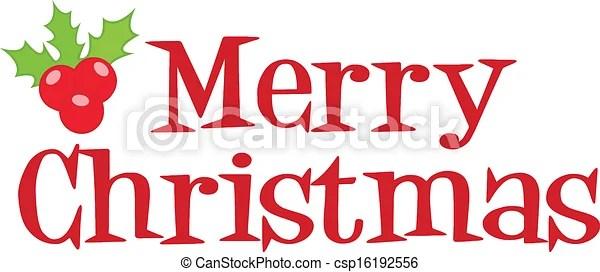 clipart vector of merry christmas