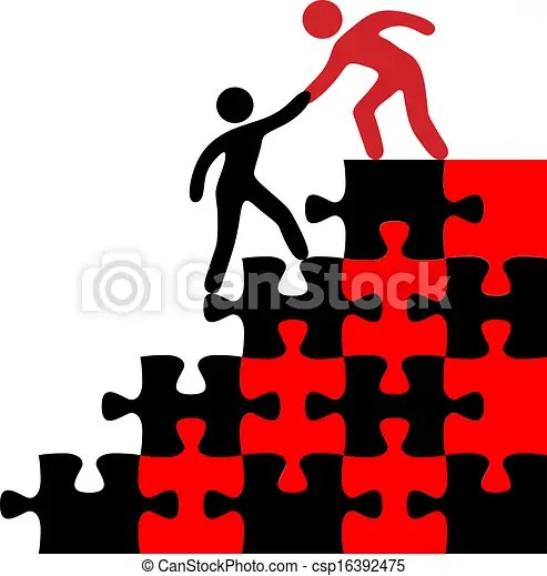Vectors Illustration of Help person join find solution - People join hands to help... csp16392475 - Search Clipart. Illustration. Drawings. and ...