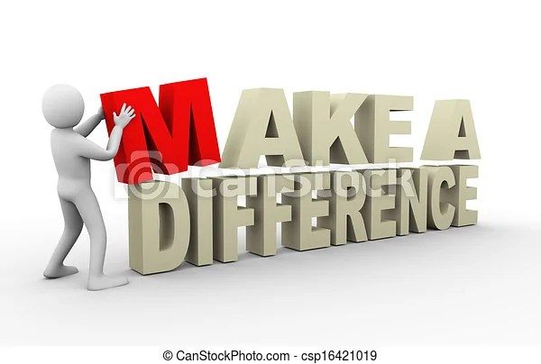 3d man with make difference