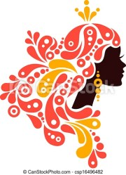 vector of beautiful woman silhouette