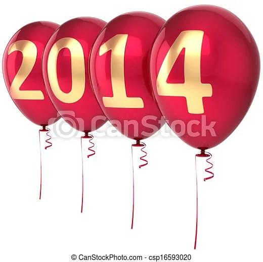 clip art of happy year 2014