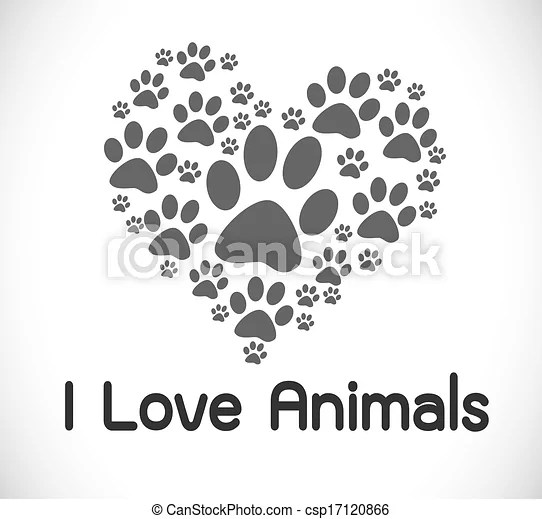 Download Clip Art Vector of i love animals csp17120866 - Search ...