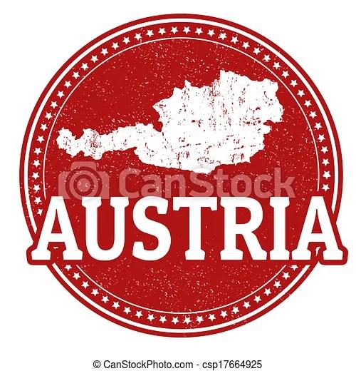 Vector Illustration of Austria stamp Vintage stamp with