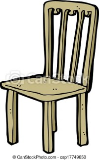 Clipart Vector of cartoon old chair csp17749650 - Search ...
