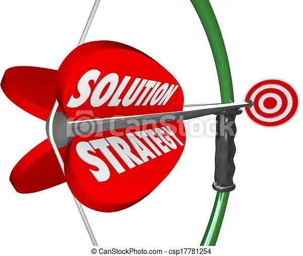 Stock Illustrations of Solution Strategy Bow Arrow Target Achieve Mission Goal -... csp17781254 - Search Clipart, Drawings, Illustration, and ...