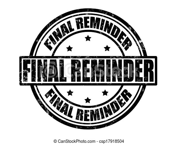 vector clipart of final reminder