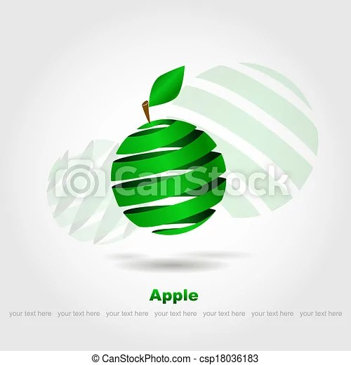 vector of abstract green apple