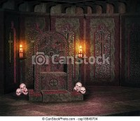 Stock Photography of Demonic Throne Castle Backdrop