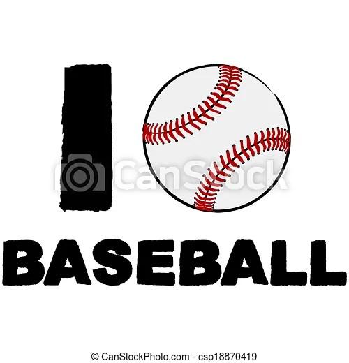 Download Vector Clip Art of I love baseball - Concept illustration ...
