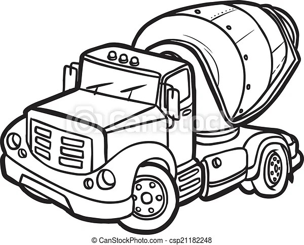 Concrete Truck Stock Images Royalty