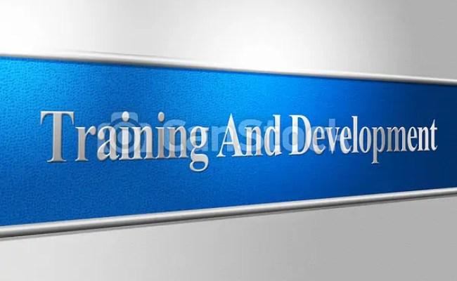 Stock Illustration Of Training And Development Indicates