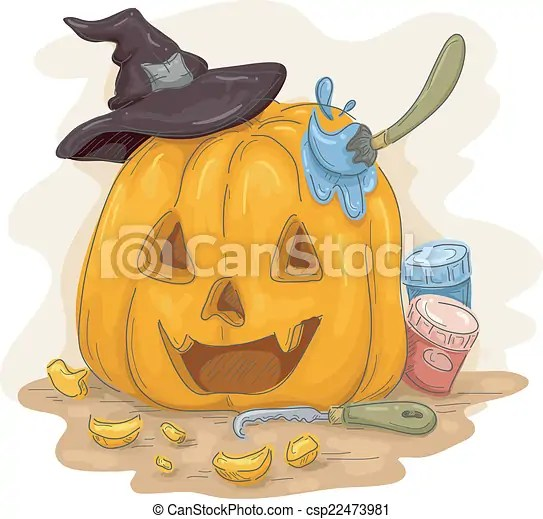 vector of pumpkin paint - illustration