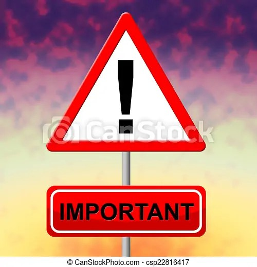 Important Sign Means Importance Substantial And... - Royalty Free Stock Illustration - csp22816417