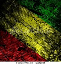 Stock Illustration of Red, yellow, green rasta flag on