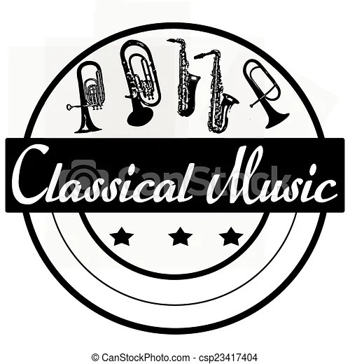 vector clipart of classical music