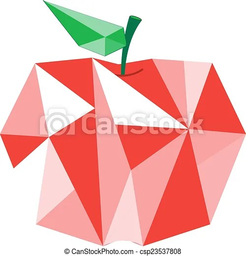 vector clipart of diamond apple