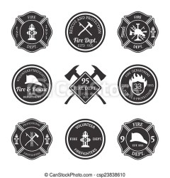 fire department vector emblems clip firefighter equipment clipart illustration icons graphic drawings graphics professional isolated icon artwork drawing canstockphoto