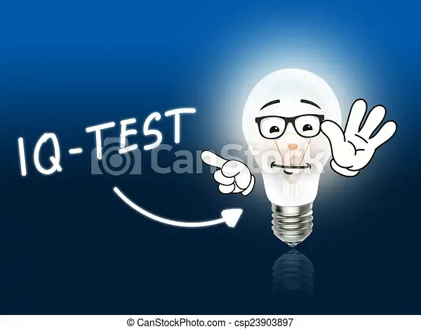 Stock Illustration of IQ Test Bulb Lamp Energy Light blue Idea Background csp23903897 - Search Vector Clipart. Drawings. Illustrations. and EPS ...