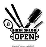 clipart vector of hair salon design