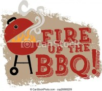 Vector Clipart of Fire up the BBQ Grill - Backyard ...