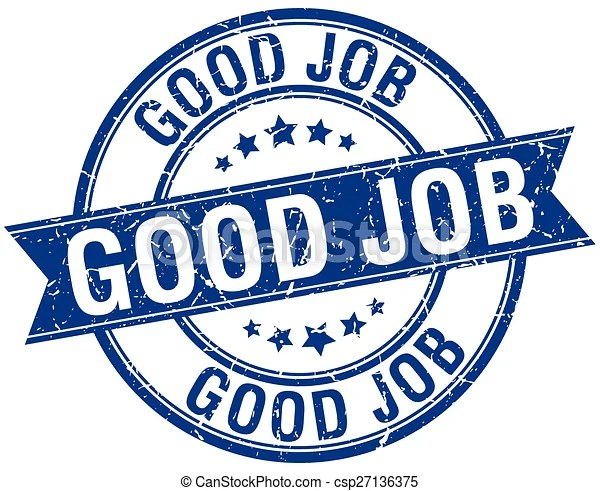 vectors illustration of good job