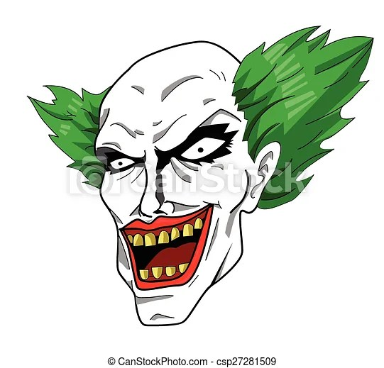evil clown head - royalty free