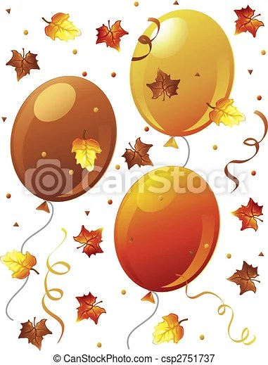stock illustrations of fall confetti